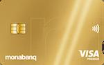 Carte bancaire or Monabanq : Visa Premier