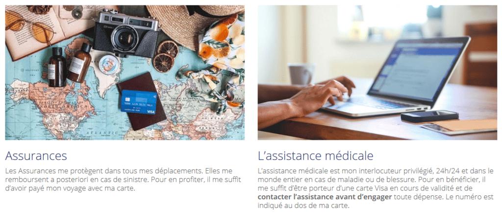 Assurances et assistances Visa