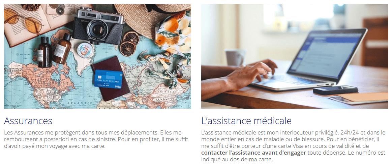 Assurances et assistances cartes bancaires haut de gamme