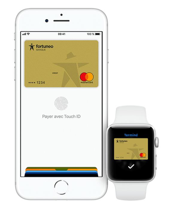 apple pay fortuneo sur mobile ou smartwatch