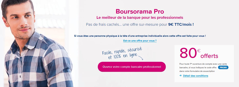 boursorama banque pro