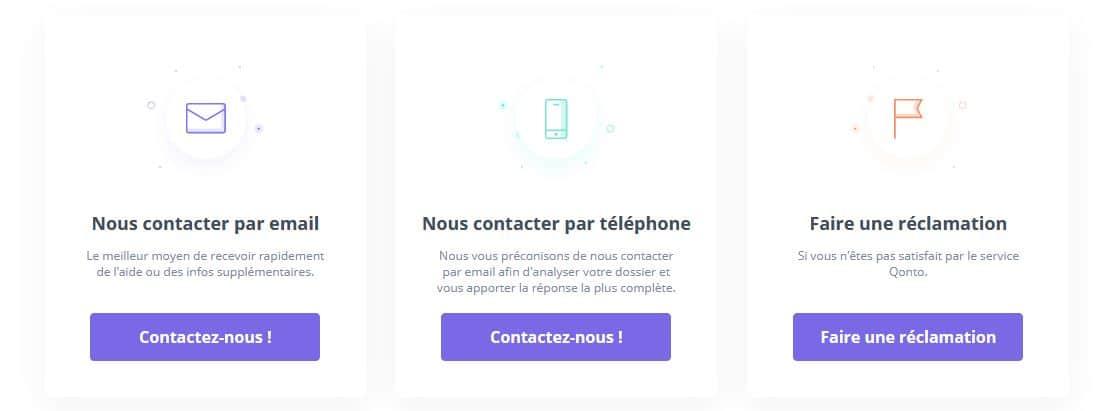 service client Qonto