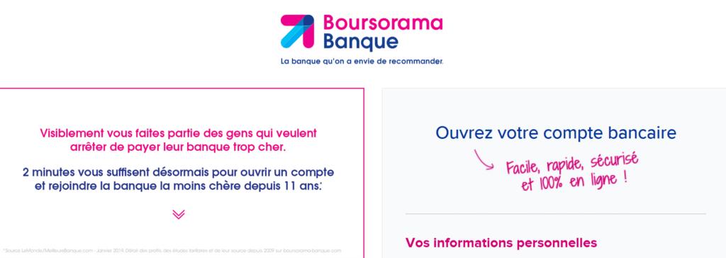 Démarches pour ouvrir un compte Boursorama Banque