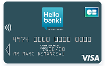 comment avoir la carte visa classic hello bank gratuite