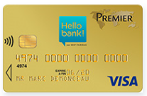 carte Hello Bank compte joint Visa Premier