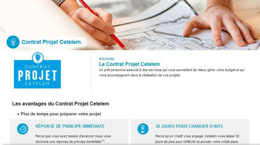contrat credit travaux cetelem