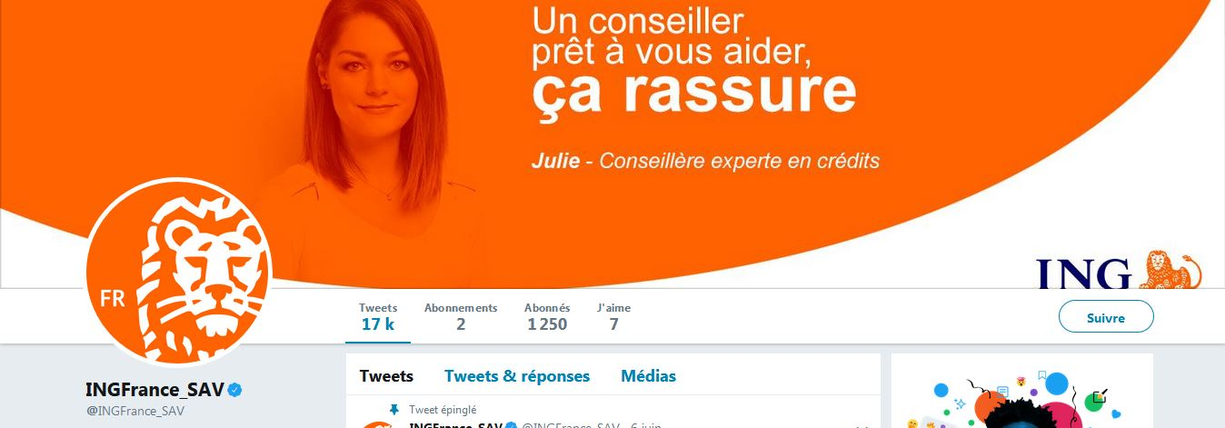 service client ING Twitter