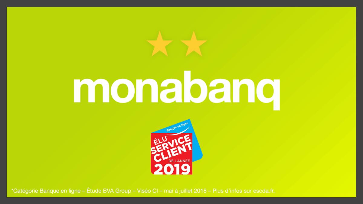 Monabanq service client de l'année 2019