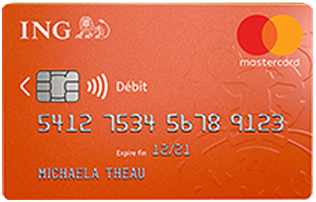 Avis carte banque en ligne Mastercard standart ING