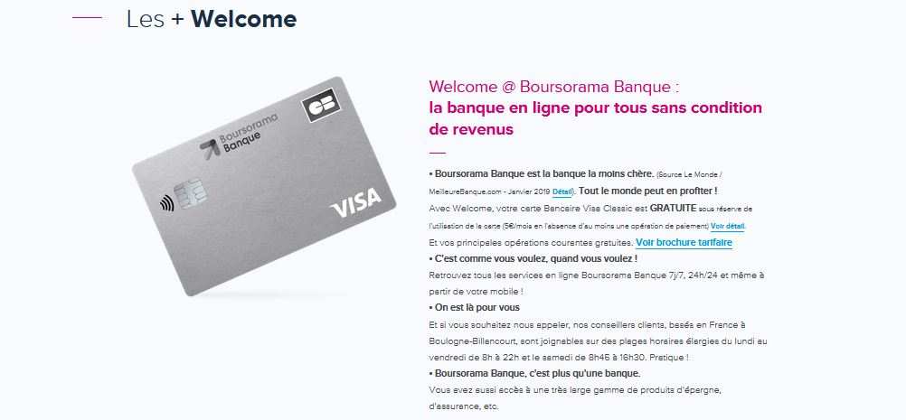 boursorama banque sans conditions de revenus