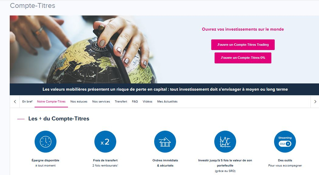 Boursorama Bourse : CTO