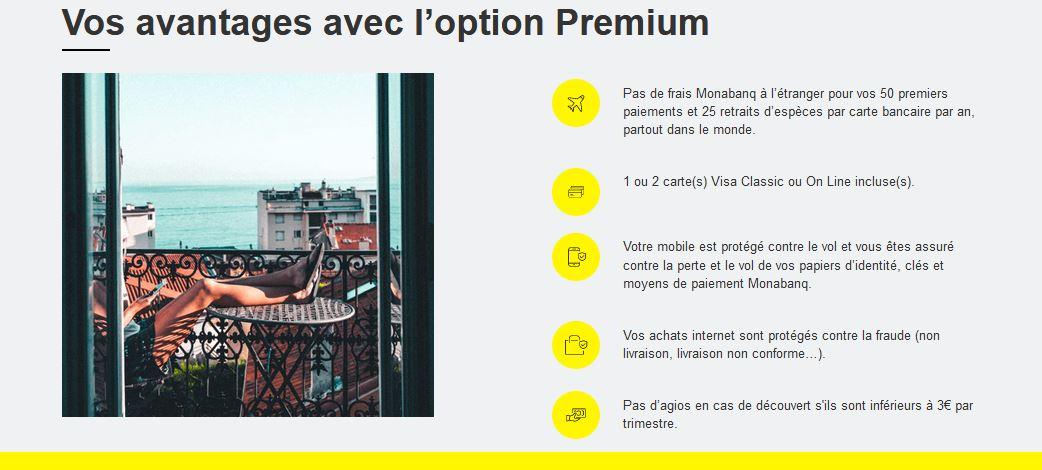 option premium monabanq