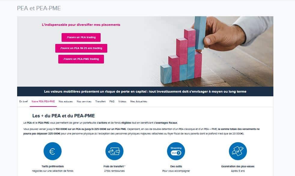 Boursorama Bourse : PEA - PEA PME