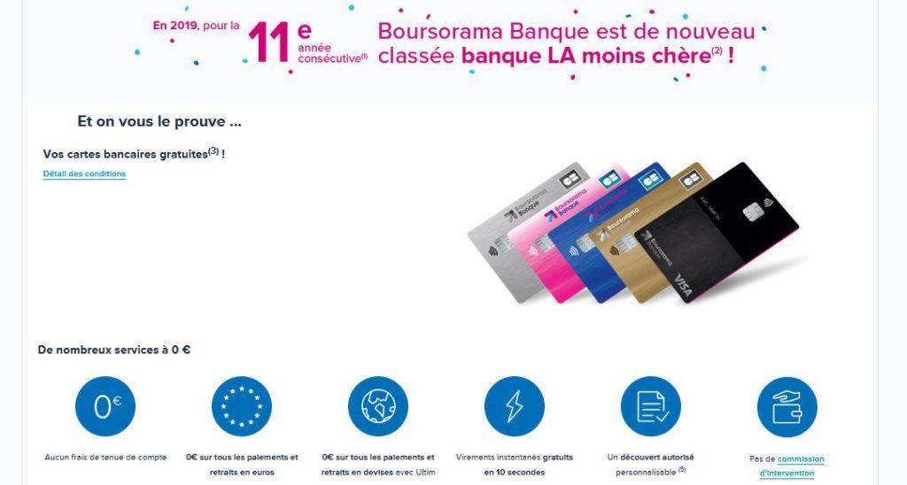 boursorama banque avantage tarifaire