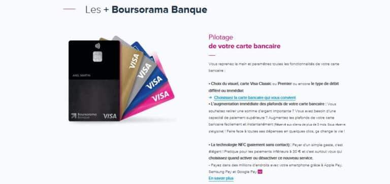 Bforbank ou Boursorama cartes bancaires