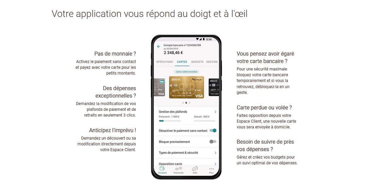 fonctionnalités appli Bforbank