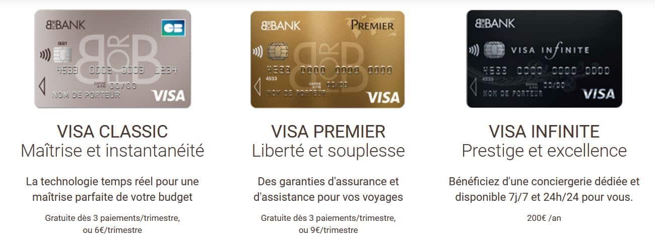 cartes bancaires gratuites Bforbank