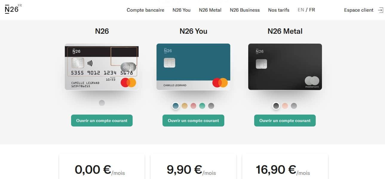 4 comptes disponibles chez la banque allemande en ligne