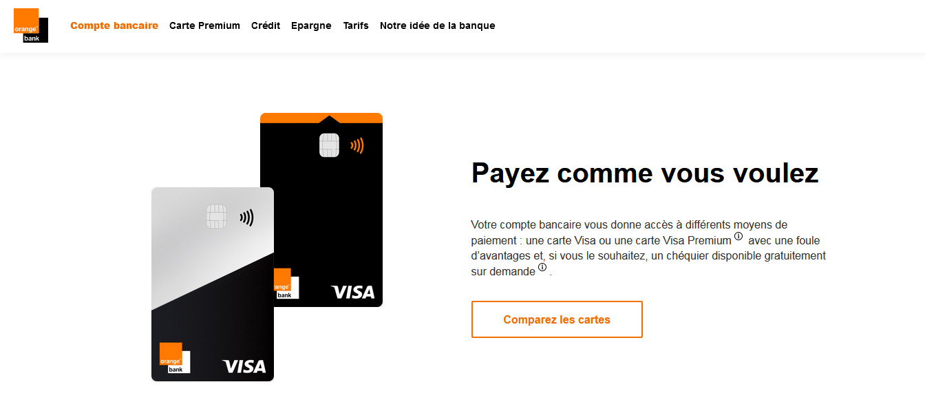 cartes bancaires gratuites Orange Bank