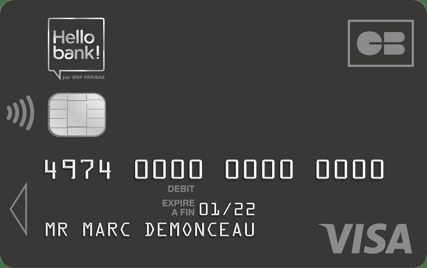 Avis carte bancaire banque en ligne Hello Prime