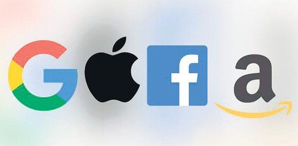 Logo représentant les quatre entreprises les plus puissantes du monde de l'internet