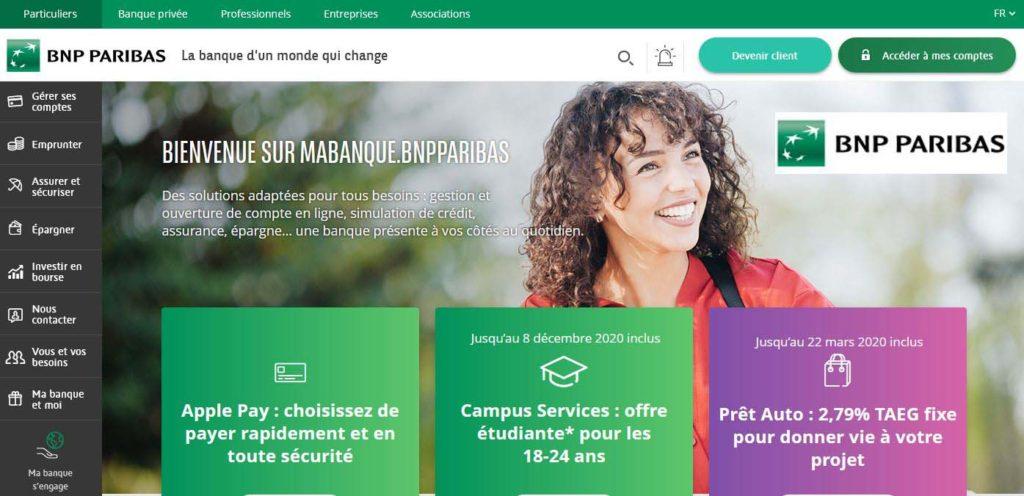 La Banque physique BNP Parisbas
