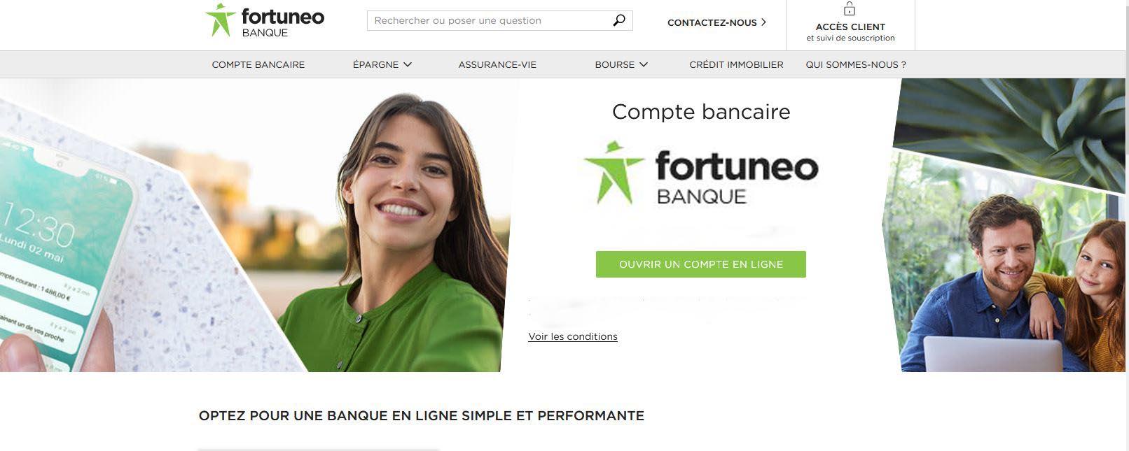 Comparatif du service client Fortuneo