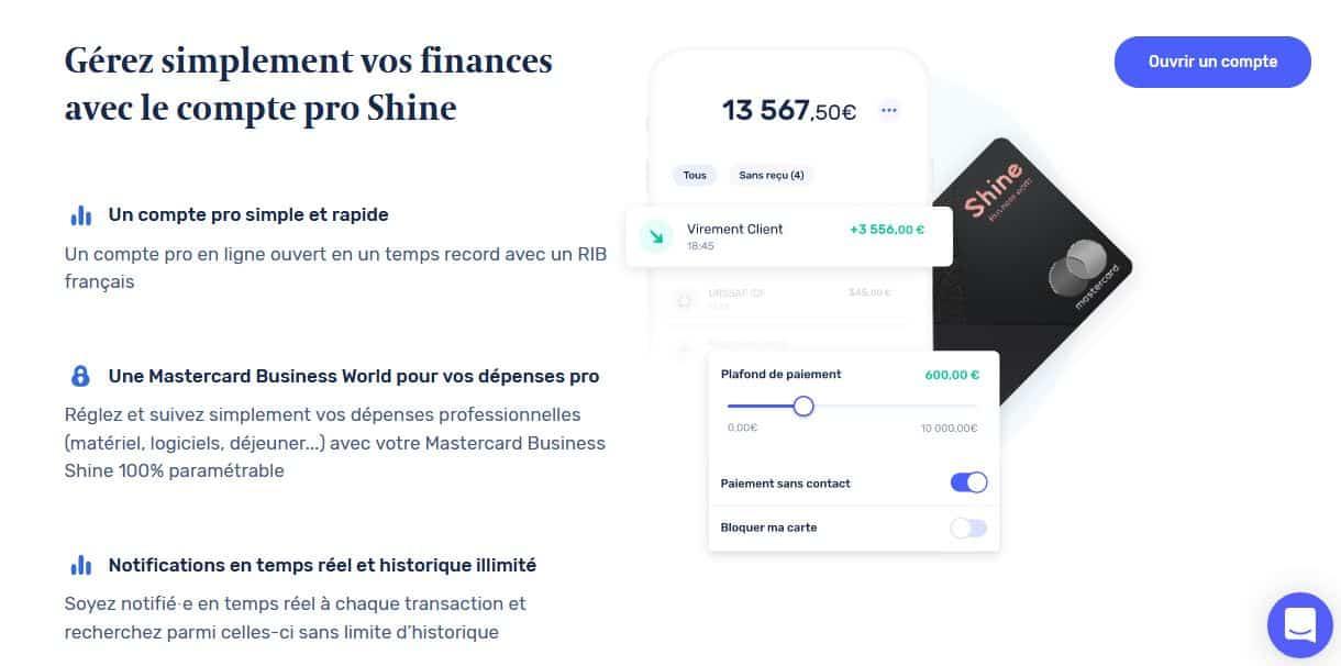 Banque pour SASU Shine
