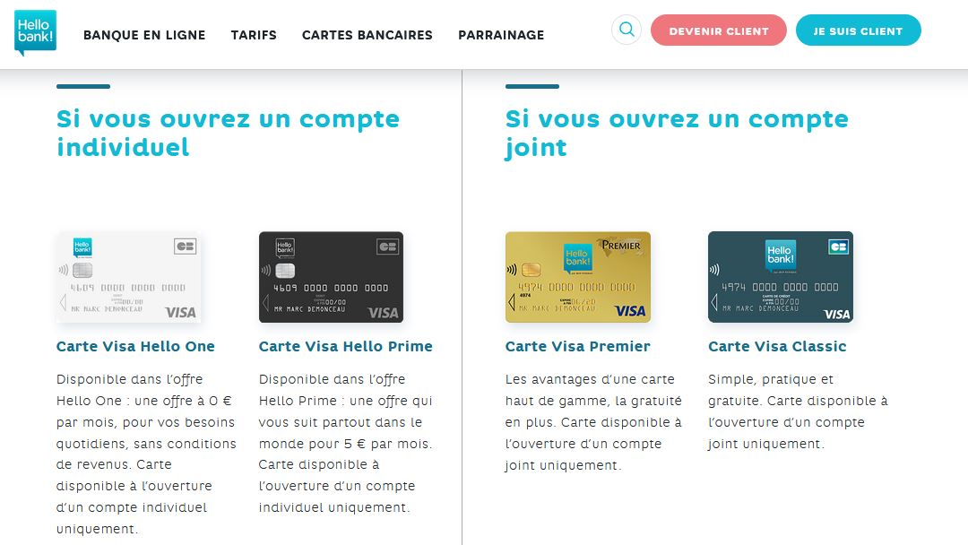 ouvrir un compte joint Hello Bank conditions