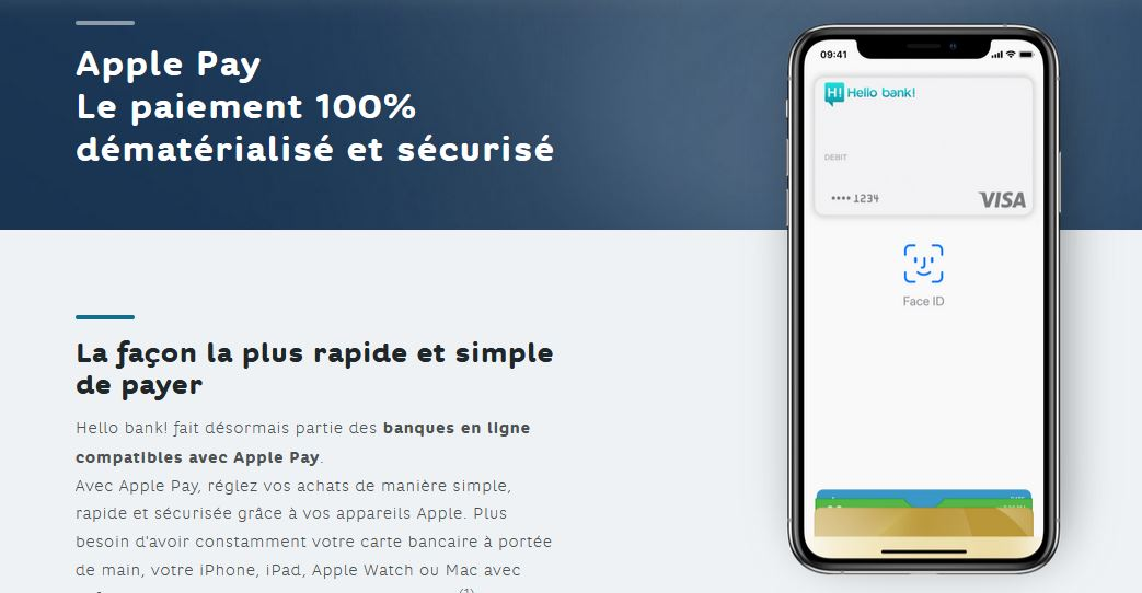 paiement mobile Hello Bank