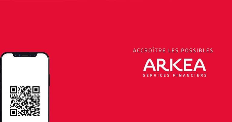 Le QR code avec Arkea