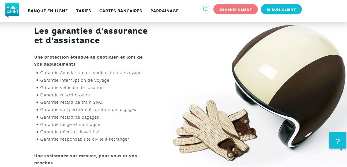 Carte Visa Premier Hello Bank avis assistances et assurances