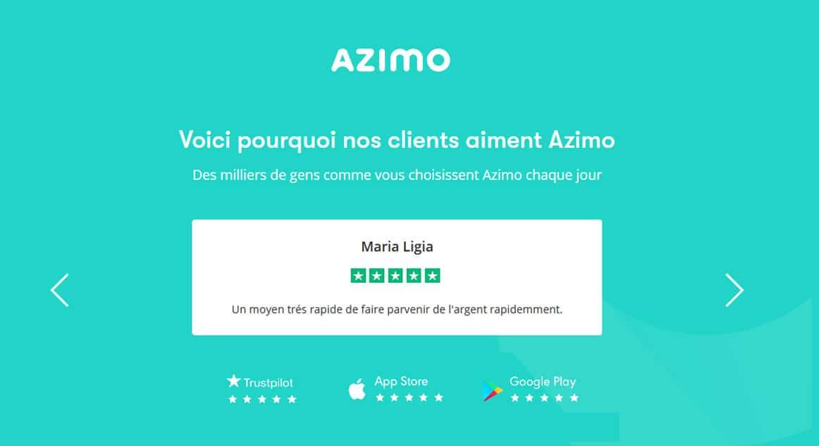 avis clients sur Azimo