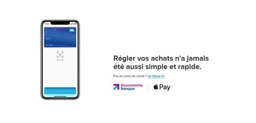 fonctionnement Apple Pay avec Boursorama