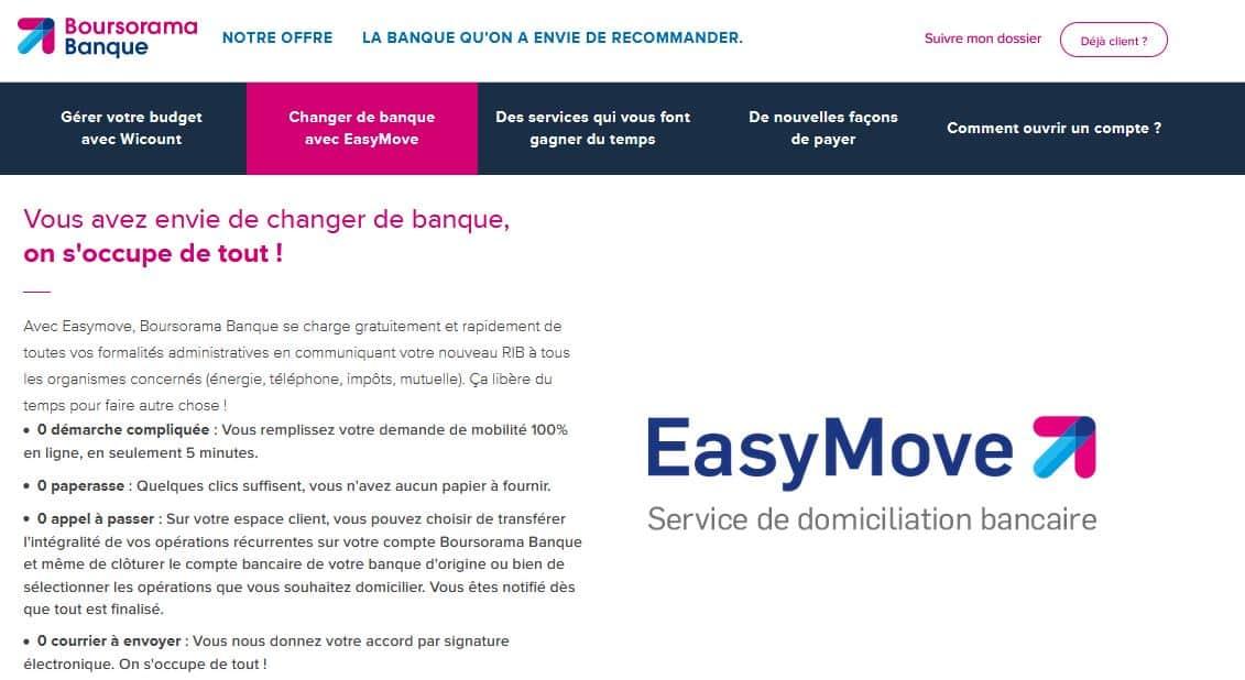 EASYMOVE Boursorama Banque