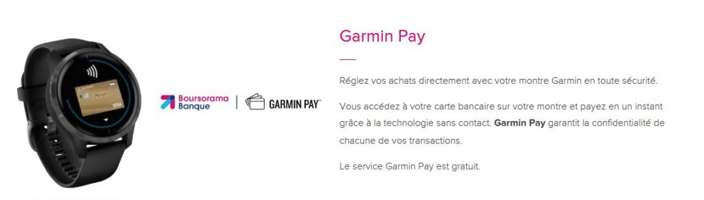 Solution de paiement mobile Garmin Pay