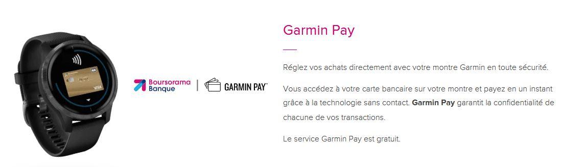 Garmin Pay Boursorama Banque