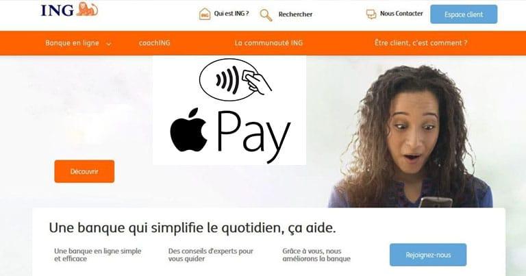 La banque ING bientot compatible Apple Pay