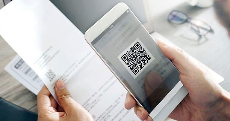 Le paiement mobile avec le QR code