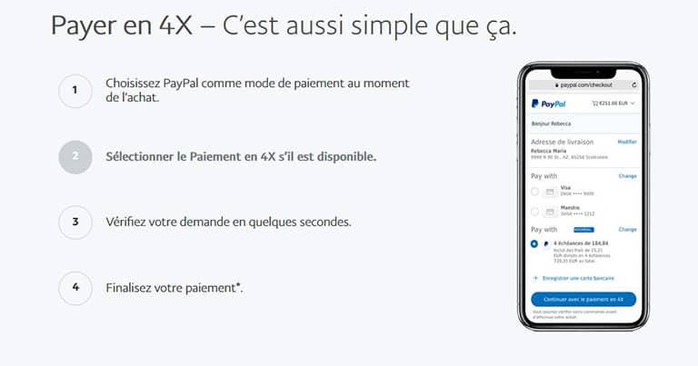 Le paiement fractionné de Paypal