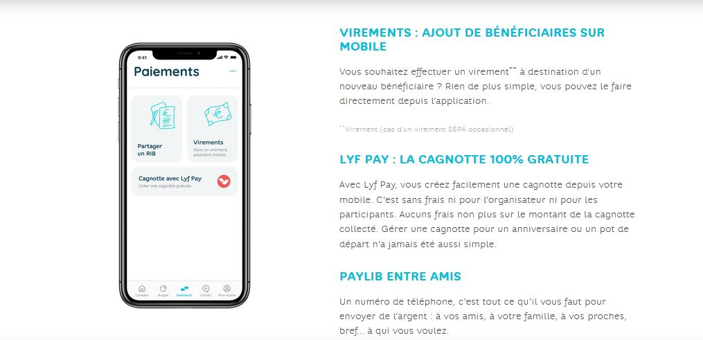application mobile fonctionnalités Hello Bank avis