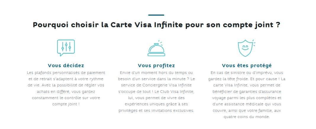avantages Visa Infinite Hello Bank