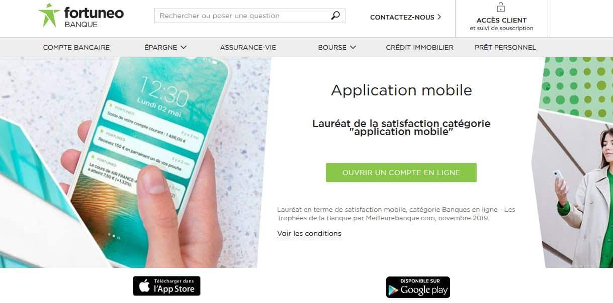 Boursorama ou Fortuneo avis: l'appli mobile