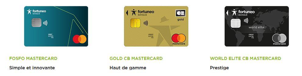 cartes bancaires gratuites Fortuneo