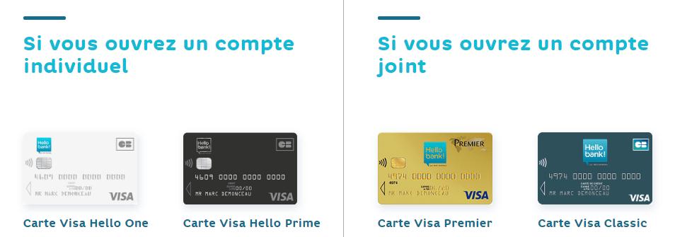 Spécificités des cartes à débit différé Hello Bank