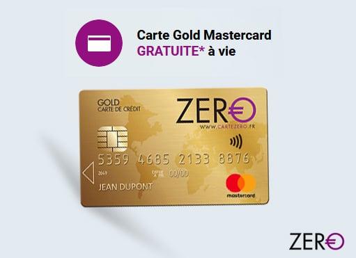 carte Gold Mastercard Zero avis