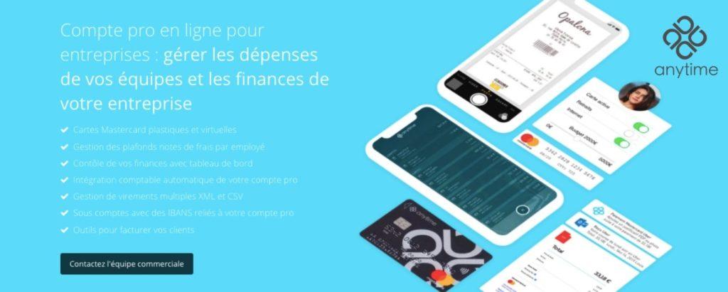 Banque mobile pour SAS Anytime