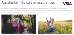 Avis carte Visa: les assurances et assistances
