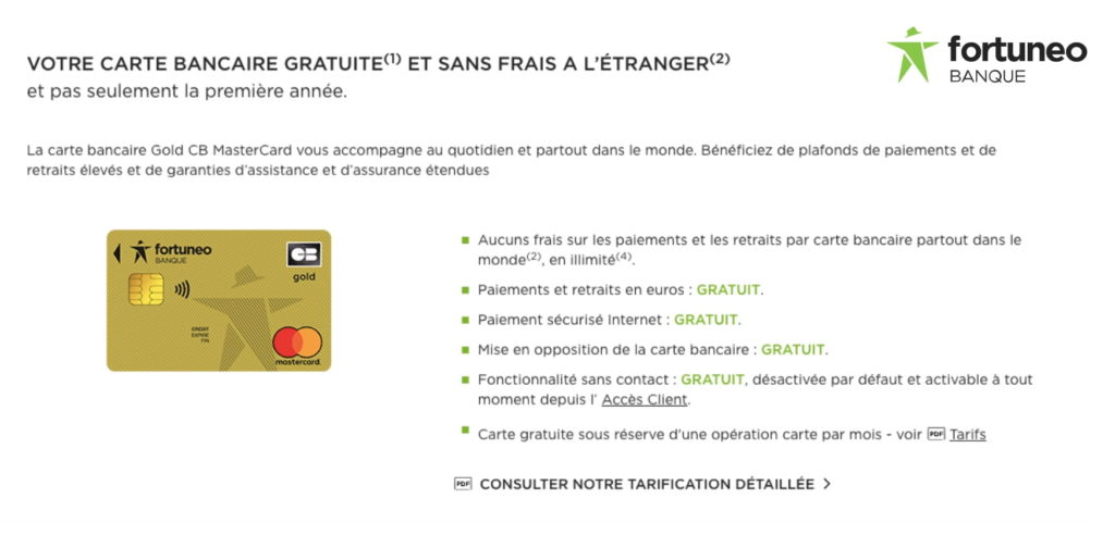 carte bancaire débit différé gratuite avec conditions