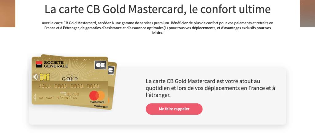 Avis Gold Mastercard Société Générale